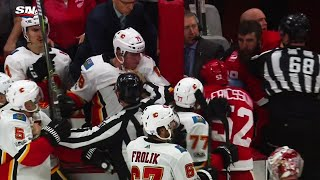 Sportsnet's Galley had front row seats for Flames-Wings epic brawl