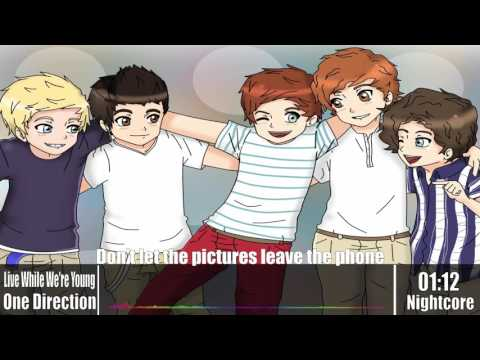 Nightcore - Live While We're Young [One Direction] (Lyrics)