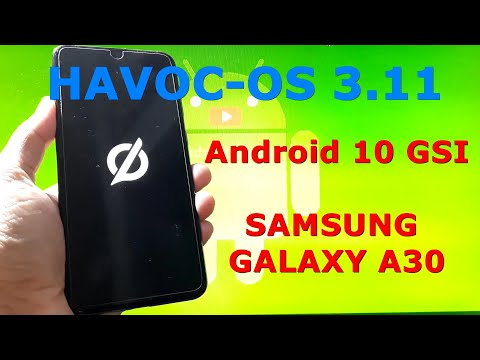 Havoc-OS v3.11 Android 10 for Samsung Galaxy A30