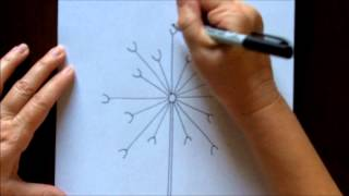 How To Draw A Dandelion Easy Free Drawing Tutorial For Beginners