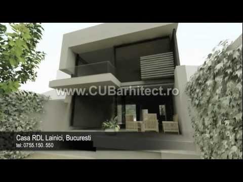 Case mici - proiecte de arhitectura CUB   Casa RDL Bucuresti - YouTube