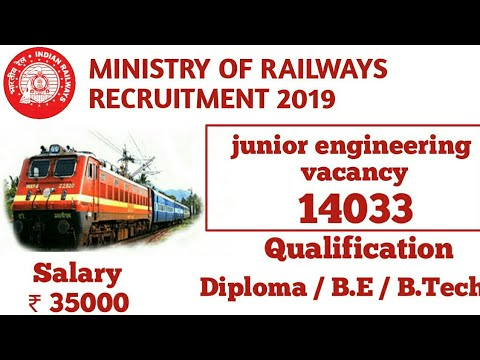 Railway JE recruitment 2019 | junior engineer recruitment RRp