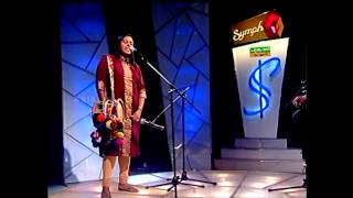 Soumya Sanathanan sings Vande mukunda hare playing edakka on Kairali TV, Symphony