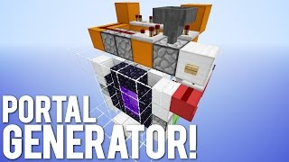 Minecraft: The Self Building Nether Portal!
