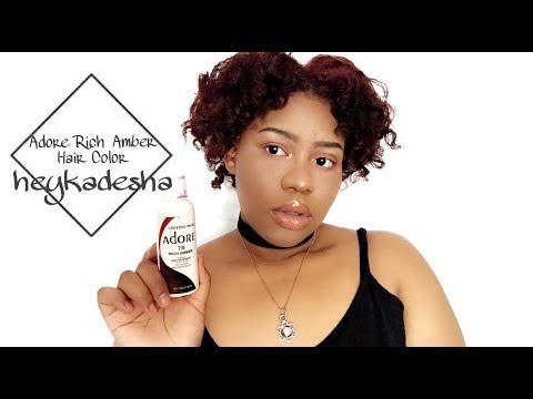 Rich Amber Adore Hair Color Heykadesha Youtube