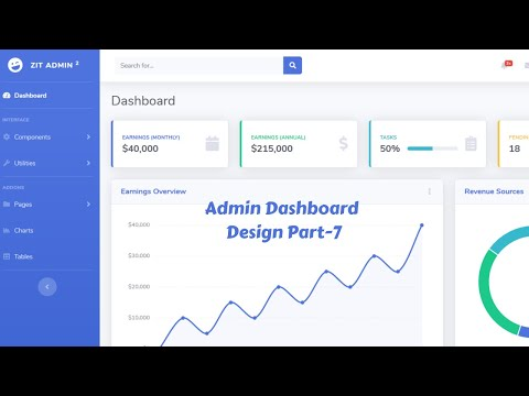 web-design-beginners-tutorial-2020-bangla-admin-dashboard-template-design-by-bootstrap-4-part-7