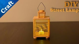 Do it yourself crafts ideas || How to make IceCream Sticks Street Lamp