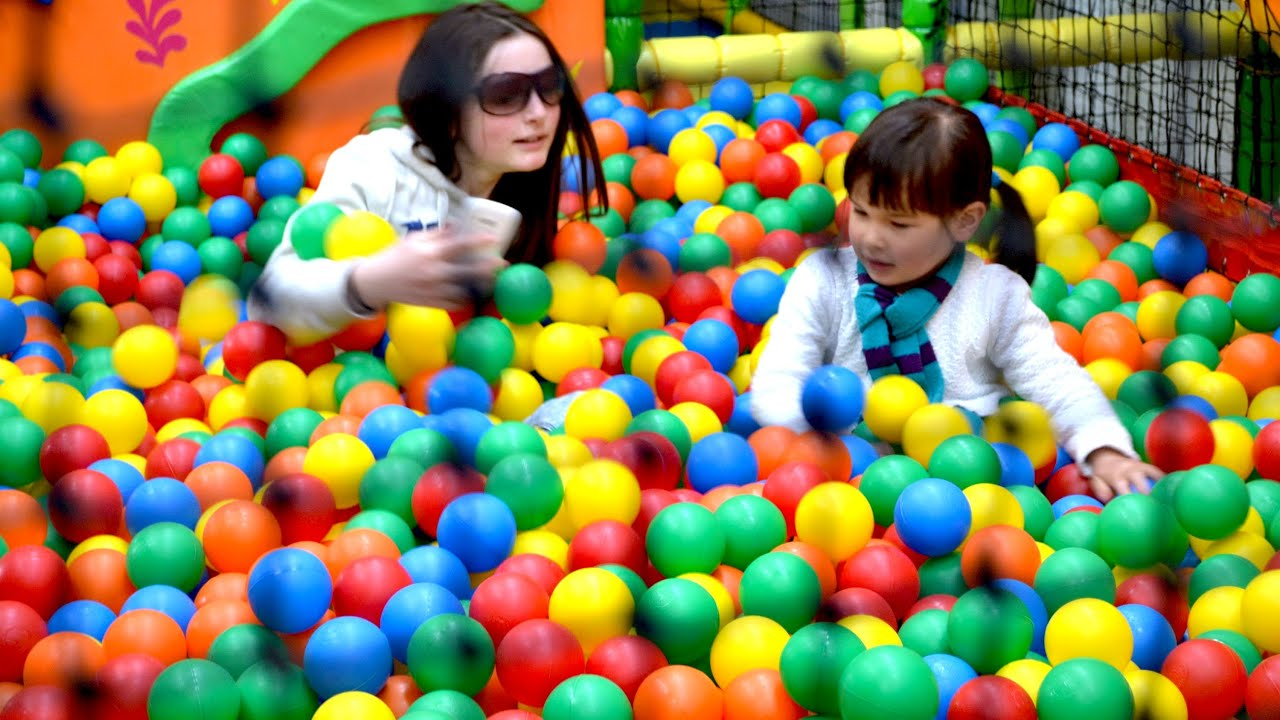 Indoor playground Ball Pool Fun for Children - YouTube