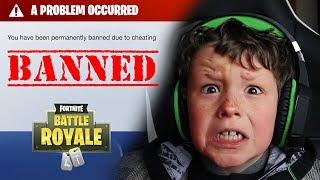 *ANGRY* Little Brother gets BANNED from Fortnite... (PRANK!!)