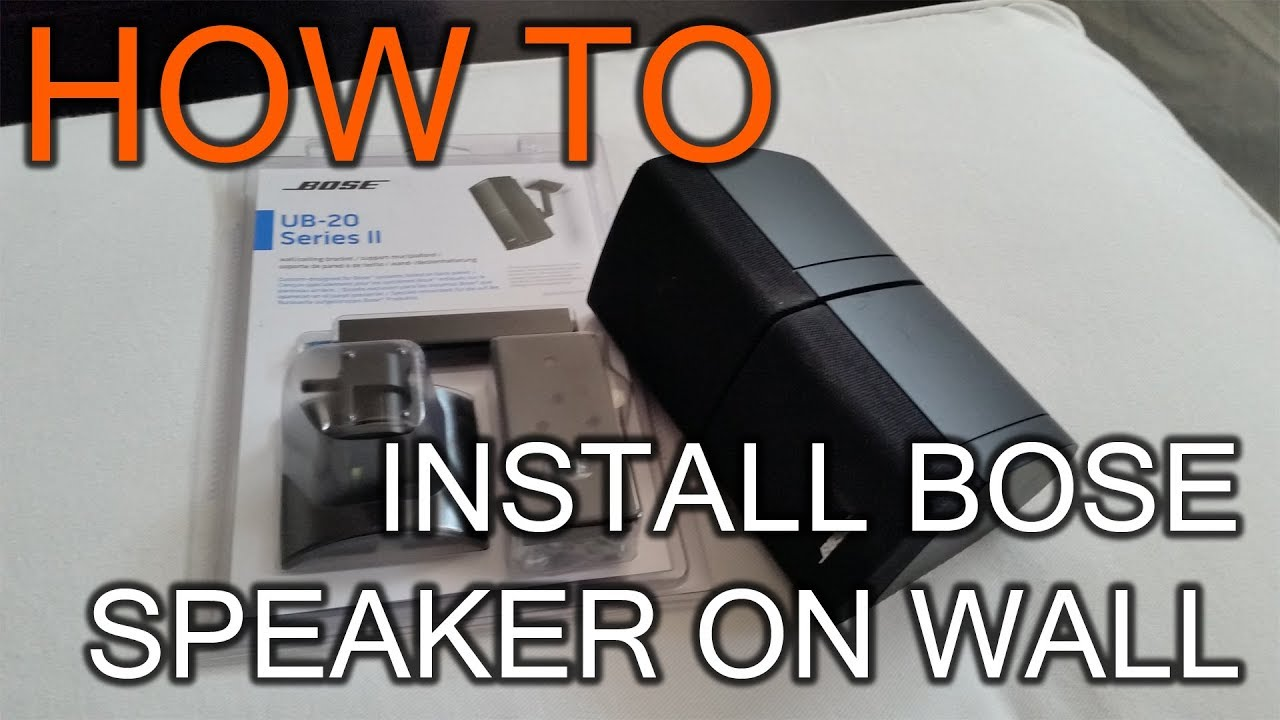 medium resolution of how to install bose speaker on wall