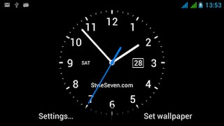 How to Set Live Analog Clock on your Android | Analog Clock with Date Live Wallpaper free screenshot 1