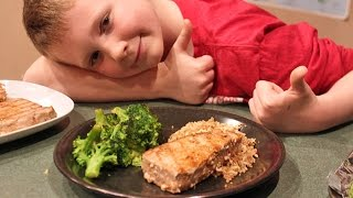 Cooking With Kids: Tuna Steaks With Broccoli, Brown Rice And Quinoa