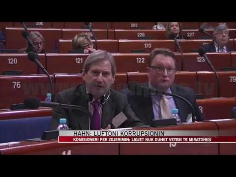 Johannes Hahn: Luftoni korrupsionin - News, Lajme - Vizion Plus