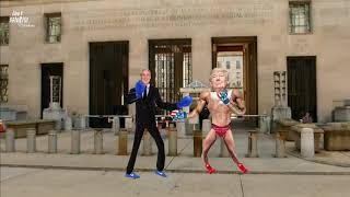 Trump vs Mueller Boxing Match Outside Department of Justice