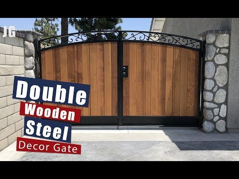 Decorative Double Wood Steel Gate | JIMBO'S GARAGE
