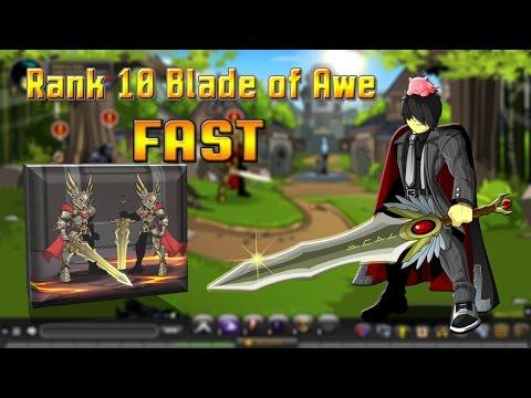 Rank 10 Blade Of Awe FAST AQW 10,000 rep 1-2 Mins 2015