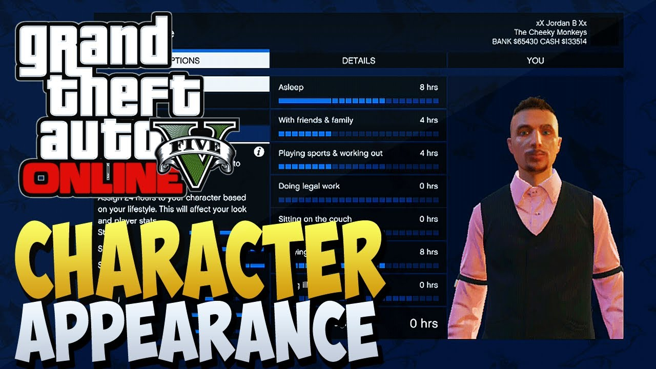 gta 5 online change character appearance xbox 360