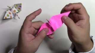 【折り紙 折り方】簡単な折り鶴(つる)の作り方動画 thumbnail