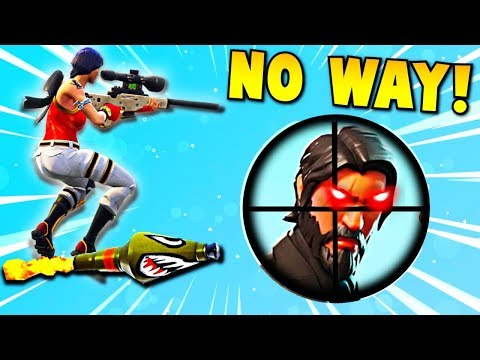 INSANE ROCKET RIDE SNIPER SHOT... 😱 (Fortnite Battle Royale Funny Moments)