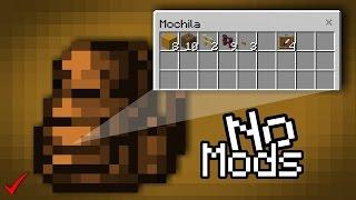 ¡Como Hacer Una Mochila SIN MODS En Minecraft PE 1.0! | Mochila Sin Addons