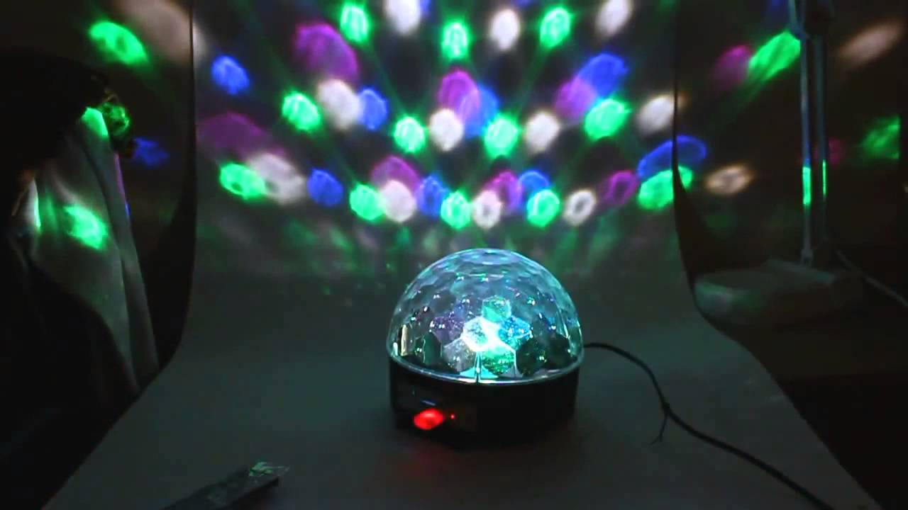 Диско куля з mp3 плеєром led ball light з пдк і флешкою, 1000460, диско куля, купити диско кулю, дискотечна куля, куля для дискотеки, світлова куля.