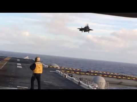 WATCH: Marines' F-35B Executes Perfect Vertical Landing on Ship