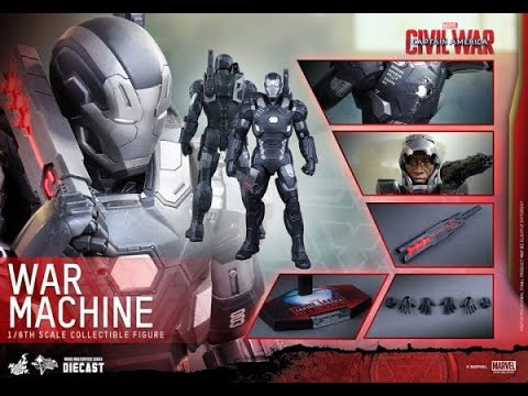 HOT TOYS - WAR MACHINE - CAPTAIN AMERICA CIVIL WAR - MMS 344D15 - FRENCH REVIEW FRANCAISE