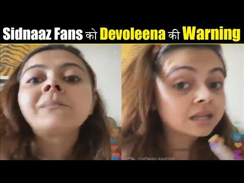 Devoleena's Last Warning For Sidnaaz Fans| LIVE VIDEO| Devoleena Again Bashed Sidnaz Shippers