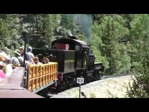 Riding the Georgetown Loop railroad in the Colorado Rocky Mountains