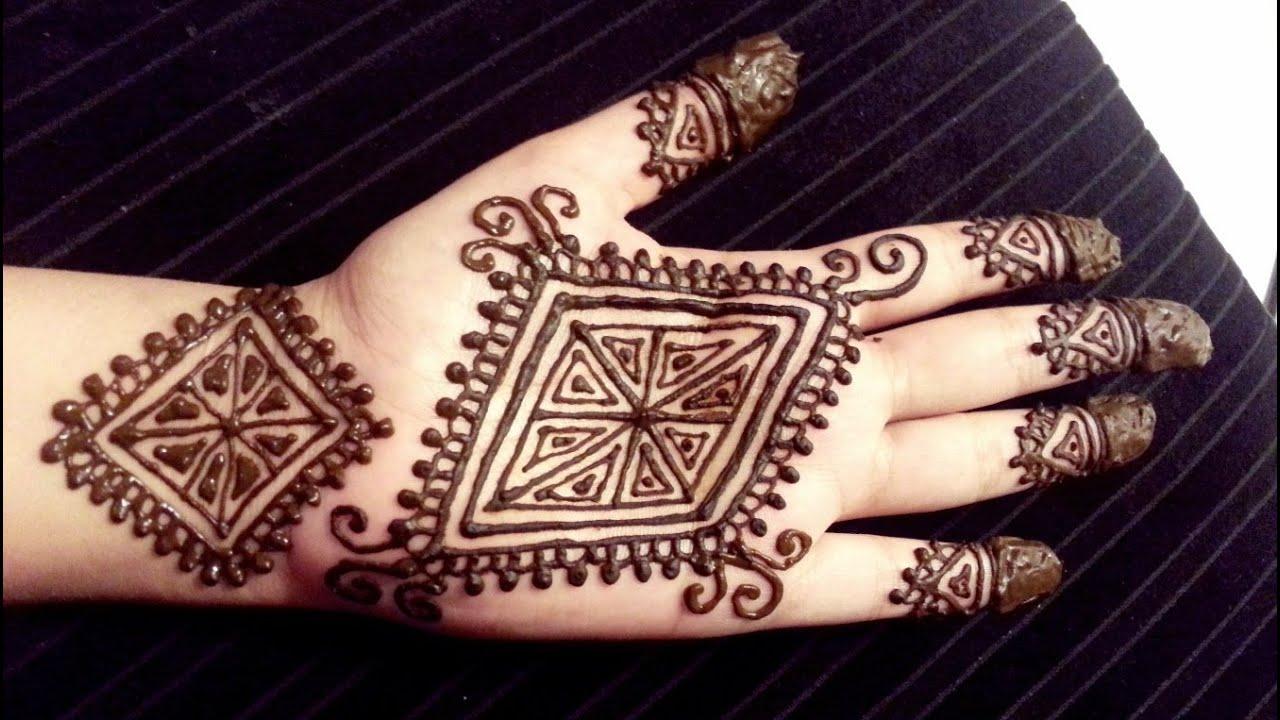 Pretty Simple Henna Designs: Beautiful Diamond Henna Design