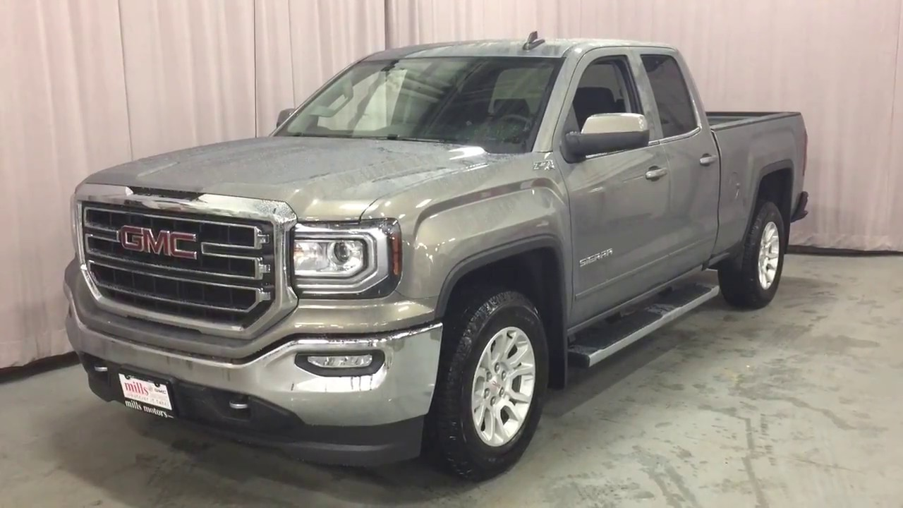 2017 gmc sierra 1500 sle 4wd double cab running boards pepperdust oshawa on stock 170904 youtube. Black Bedroom Furniture Sets. Home Design Ideas