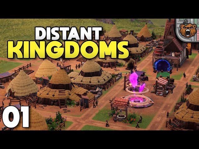 Construção e Logística num mundo de Fantasia! - Distant Kingdoms | Gameplay 4k PT-BR