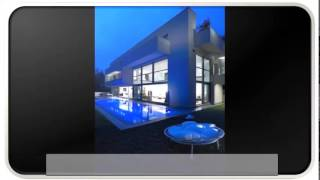 Unique Blue Modern House Plans