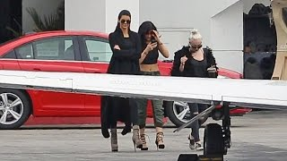 EXCLUSIVE - Kendall And Kylie Jenner Catch A Private Jet To Las Vegas