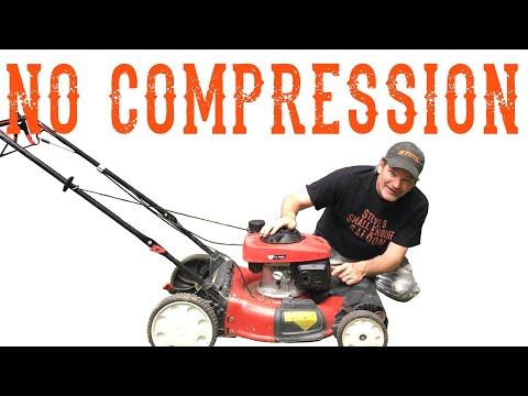 How To Fix A Lawn Mower With No Compression - Video
