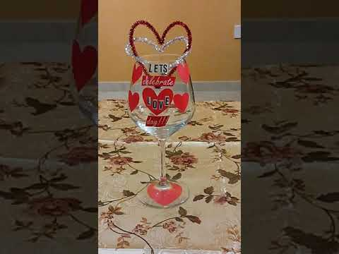 14 February 2019 #193 DIY WINE GLASS TABLE CENTER PIECE FOR THE VALENTINES