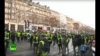 Protesta del movimiento de los 'chalecos amarillos' en París por cuarta semana consecutiva Mp3
