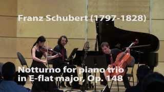 Franz Schubert - Notturno for piano trio in E-flat major, Op. 148