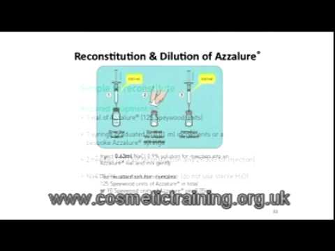 Preparation and dilution of botox - YouTube
