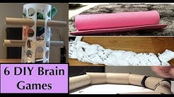 DIY Brain Games for Dogs! Homemade food puzzle toys