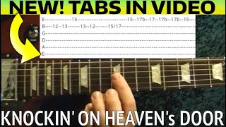 Knocking On Heaven's Door Solo - Guns N' Roses - Guitar Lesson WITH TABS!