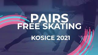 Polina Kostiukovich Aleksei Briukhanov RUS PAIR FREE SKATE Kosice Week 3 2021 JGPFigure