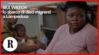 Sea Watch, lo sbarco di dieci migranti a Lampedusa