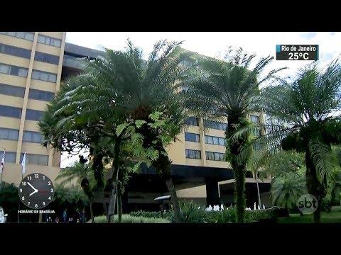 Quadrilha invade hote de luxo em SP para roubar caixa eletrônico | SBT Brasil (23/02/18)