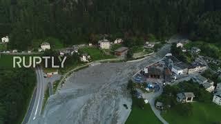 Switzerland: Drone captures landslide devastation over Swiss-Italian border village