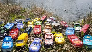 Disney cars toys review at the Lake Video for kids