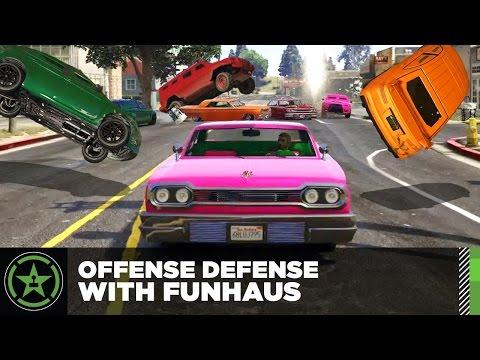 Let's Play - GTA V - Offense Defense with Funhaus (#4)