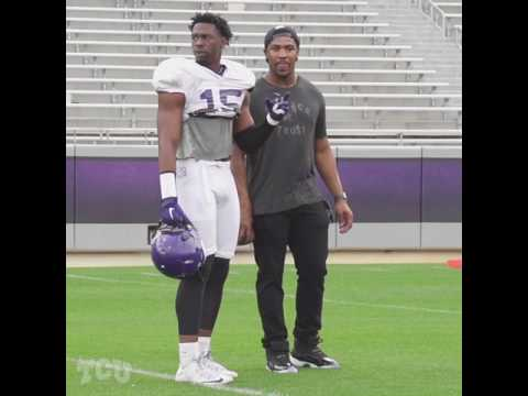 FB - Jerry Hughes Visits Practice