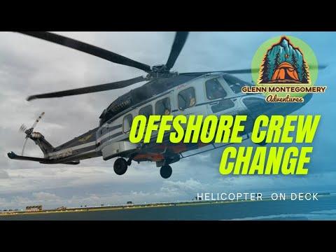 Offshore Crew Change via chopper