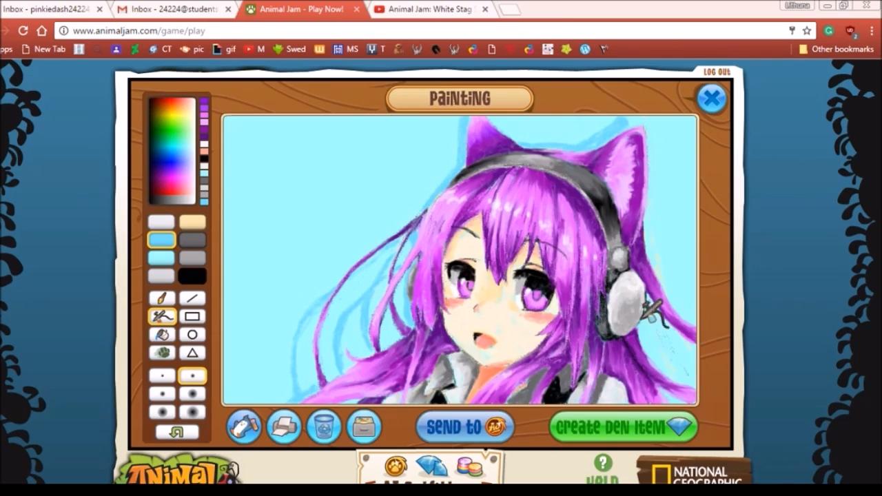 Reupload Animal Jam Art Studio Anime Cat Girl Speed